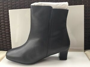 new products 77835 94f59 Details about Oxendales Women's Leather Ankle Boots. Ultra Wide EEEEE Dark  Grey BNIB Size 4