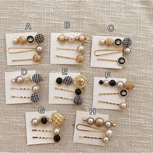 Women-Girl-Hair-Accessories-Button-Pearl-Hair-Clips-Heart-Star-amp-Crystal-Hairp-AA