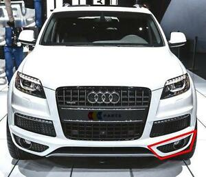 audi q7 4l 09 14 s line n s left bumper grill fog light. Black Bedroom Furniture Sets. Home Design Ideas