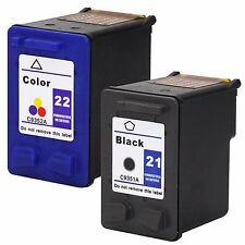 2 Pack HP 21 22 Ink Cartridges For PSC 1401 PSC 1408 PSC 1402 PSC 1410 PSC 1403