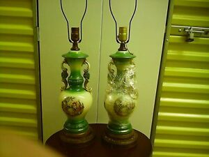 Pair Of Antique Lamps Ebay