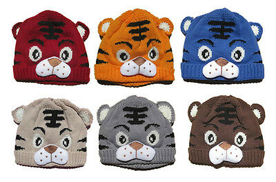 Baby Girl Boys Kids Toddler Crochet Knit Cute Tiger Hat Cap Beanie Bonnet Hats