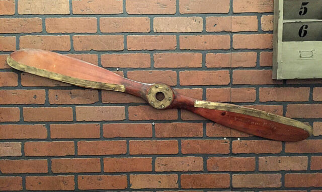Wood Brown Airplane Propeller Aviation Collectible Wall Decor NEW