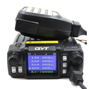 QYT-KT-7900D-25W-Quad-Band-144-220-350-440MHZ-Walkie-Talkie-KT7900D-Car-FM-radio