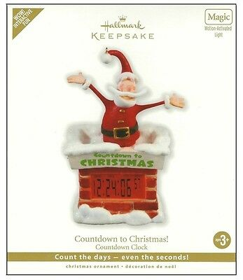 Countdown To Christmas Clock.2010 Hallmark Countdown To Christmas Clock Motion Activated Light Ornament Ebay