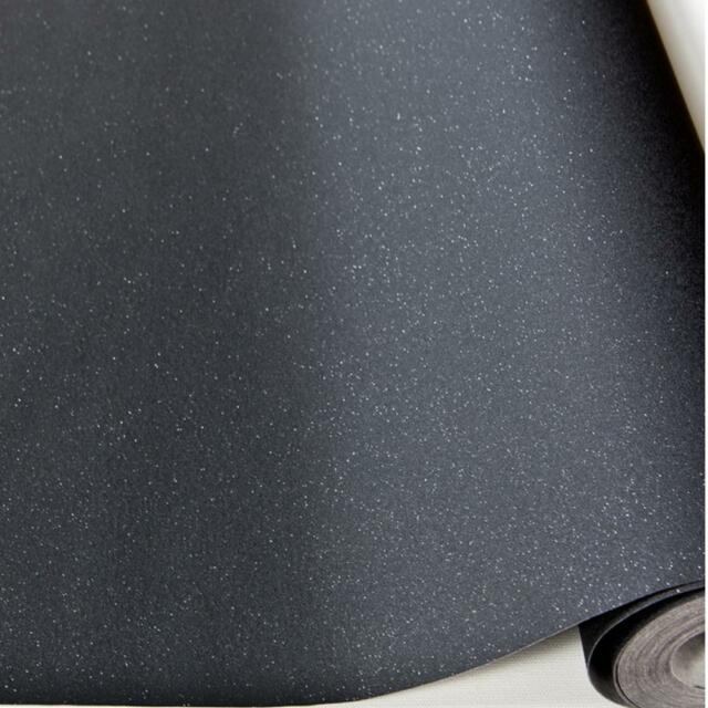 NEW GRANDECO EXPRESSIONS PLAIN GLITTER LUXURY SPARKLE  WALLPAPER BLACK  035-08-2
