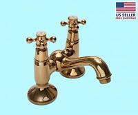 Tub Faucet Solid Brass Bridge 2 Cross Handle 4 Centerset | Renovator's Supply on sale