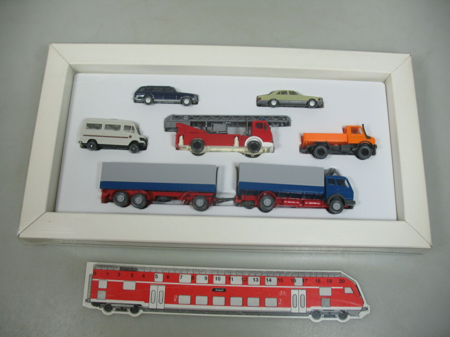 Ai59-1  wiking h0 set Mercedes-Benz MB  camion  unimog pompiers   voiture etc, Neuw  OVP