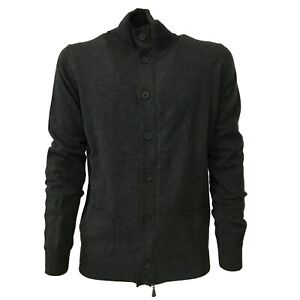 Mens-Cardigan-with-Button-and-Zip-Alpha-Studio-AU-1204E-70-Wool-30-Cashmere