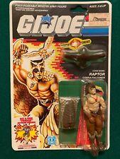 vintage 1987 RAPTOR-GI JOE FILE CARD