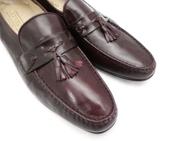 E.T. Wright 14 B Uomo Shoes Cordovan Pelle Tassle Loafer NEW Made in Italy