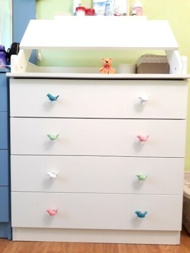 Cute Birds Ceramic Knobs Dresser Knob Drawer Pulls Handles Cupboard Pulls Knob