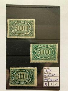 Deutsches Reich, Michel. n. 256 B, C e D, posta freschi, tutti esaminati inaspri
