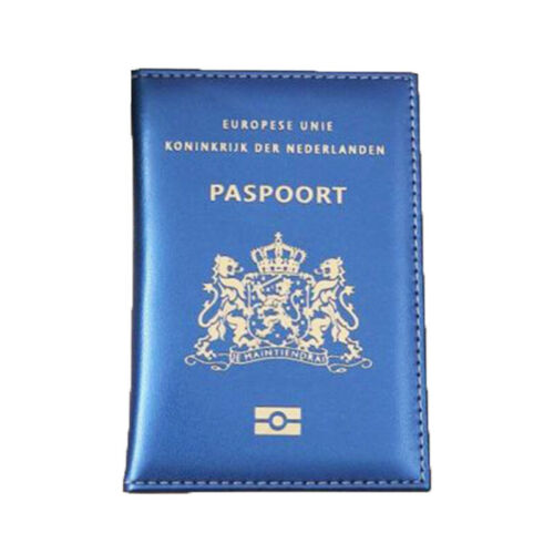 Portable Leather Netherland Passport Holder Dutch Identification Cover Holland