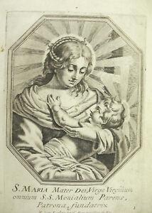 FidèLe Sainte Vierge Marie Mère Maria Michiel Van Lochom à La Duchesse D'aiguillon 1639