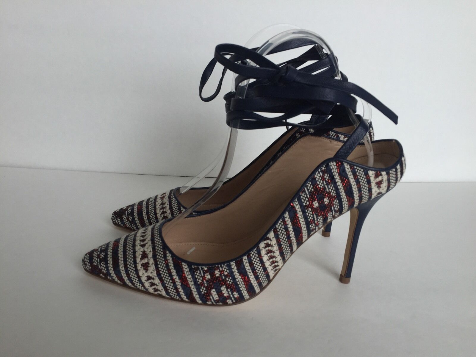 J. Pumps Crew Euston Fabric Lace-Up Pumps J. Sz.7 Is Crimson Maple fc9337