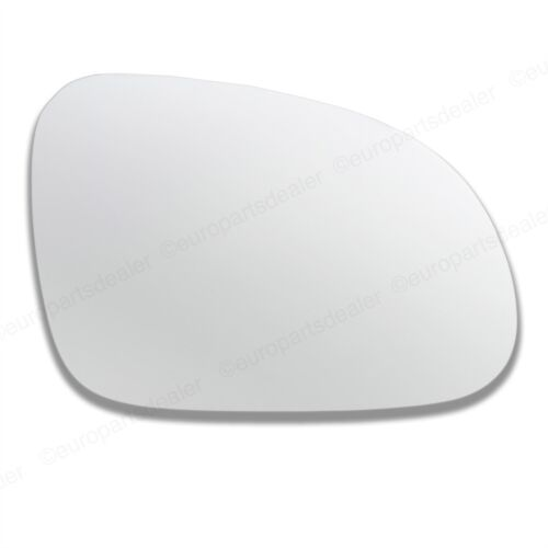 Driver Side CONVEX WING DOOR MIRROR GLASS For VW Passat 2005-2010 Stick On New