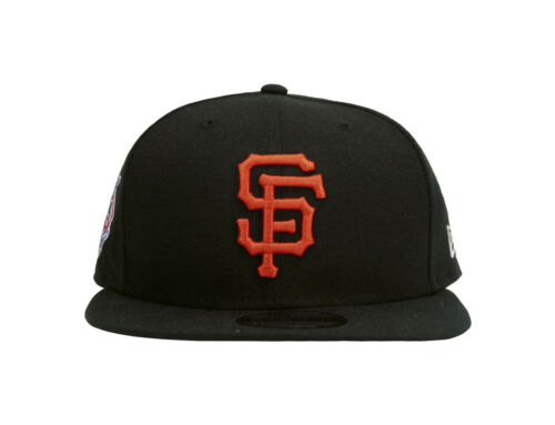 New Era 9Fifty Hat Cap San Francisco Giants Black Orange Polyester Snapback 950