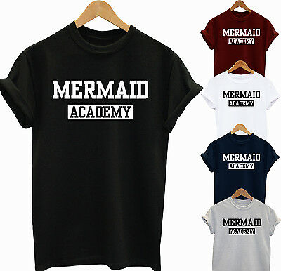 Qualifiziert Mermaid Academy Funny Unisex T Shirt Party Tee Gift Idea Starke Verpackung