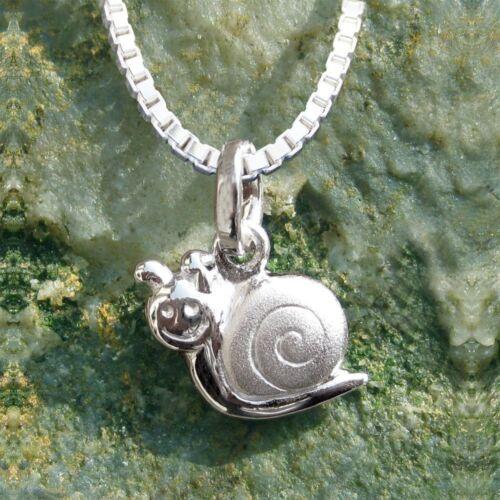 Anhänger Schnecke mit Kette Silber 925