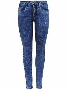 Only-Damen-Jeans-Denim-Hose-Skinny-Slim-Stretch-Hueftjeans-Roehrenjeans-blaue-cool