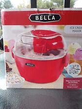 NIB  Bella Ice Cream Maker   # 13716   Lightweight & Portable  1 Liter  Red
