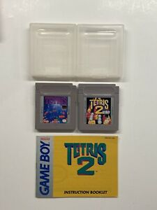 Gameboy Tetris w/ Case & Tetris 2 w/ Manual & Case TESTED!!