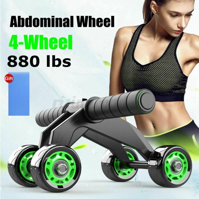4 Wheels Ab Abdominal Roller Workout Exercise Fitness Equipment Machine Home Gym For Sale Online Ebay