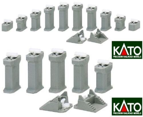 KATO 23-015 SET n.12 PILONI DECRESCENTI DA mm.15 a mm.50 VIADOTTI e LINEE AEREE