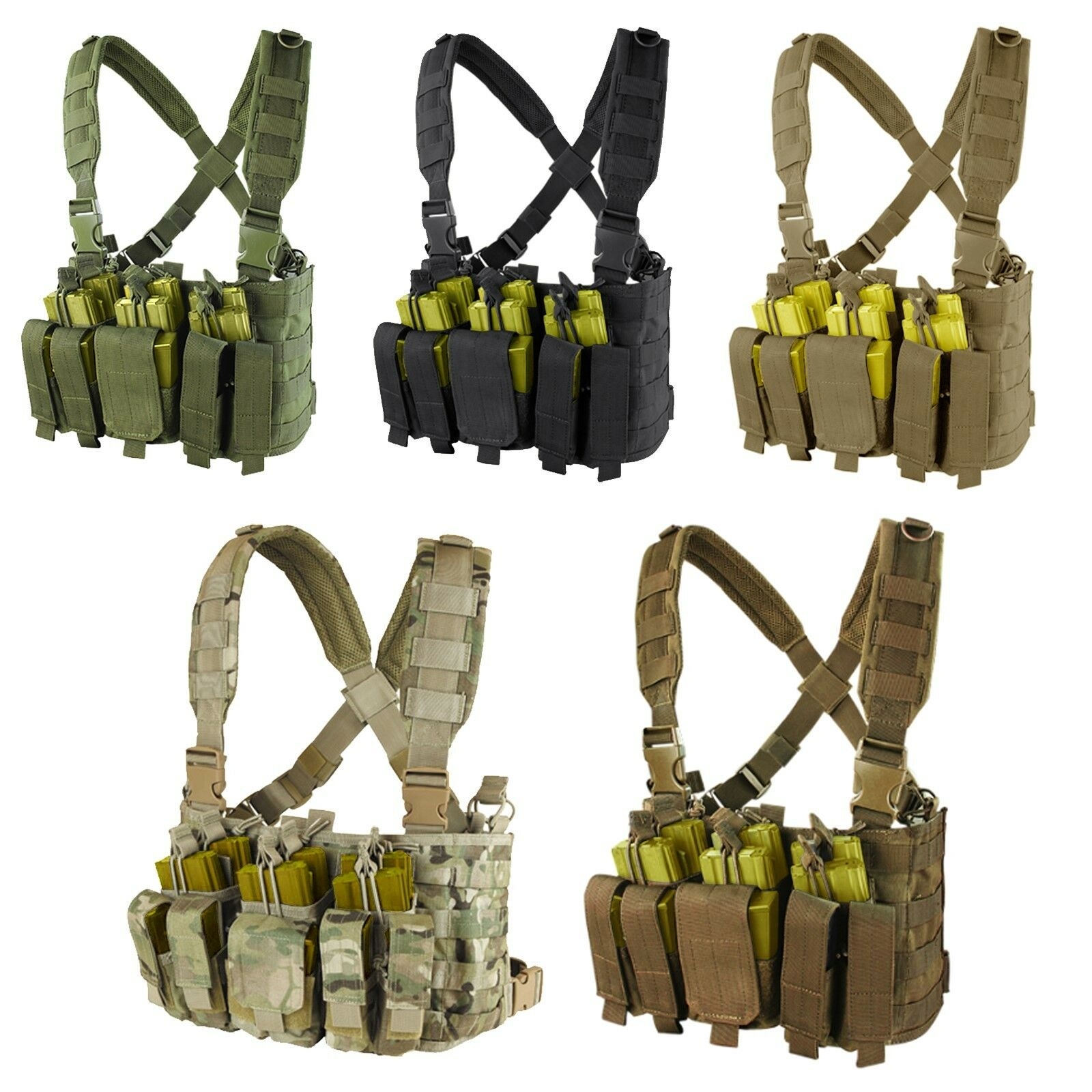 Condor MCR5 MOLLE PALS Rapid Assault Chest Rig w   Pistol & Rifle Magazine Pouch  quality assurance