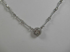 Roberto coin diamond dogbone necklace 18k wg halo pendant ebay roberto coin diamond dogbone necklace 18k wg halo aloadofball Gallery