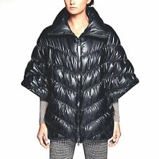 * $300 Womens M NIKE Cascade Down Fill Water Repellent Poncho Coat Jacket Black