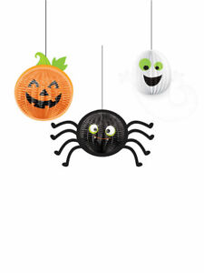 Halloween-Party-Hanging-Decorations-034-Gruesome-Group-034-Pumpkin-Ghost-Spider