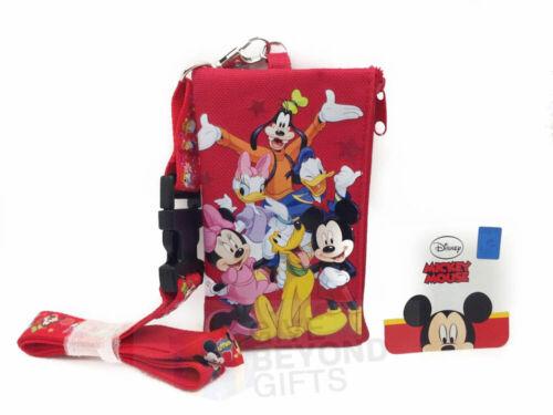 Disney Mickey Minnie Friends Set of 3 Lanyard ID Ticket Badge Key Chain Holder