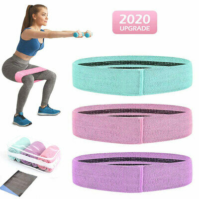 3PCS Women Resistance Bands Booty Fabric Glutes Hip Exercise Yoga FREE USA Ship!