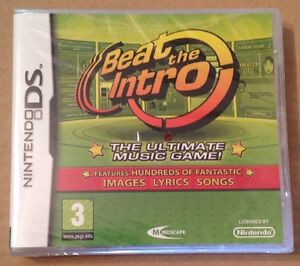 Details about Beat The Intro Music Game For Nintendo Ds Dsi Ds Lite 3Ds NEW  & SEALED