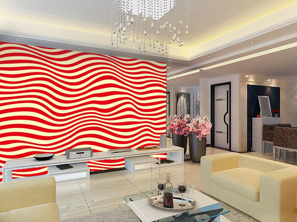 3D Rote Wellen Streifen Streifen Streifen 7 Tapete Wandgemälde Tapete Tapeten Bild Familie DE | Clever und praktisch  | Ruf zuerst  |  5164cb