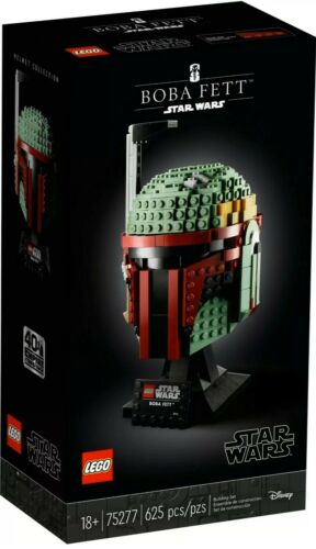 LEGO Star Wars 75277 Boba Fett Helmet Building Kit Cool Collectible In Hand!