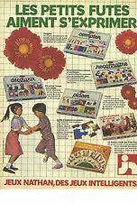 PUBLICITE ADVERTISING  1982  NATHAN jouets jeux éducatifs