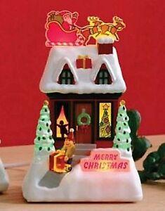 2009-Hallmark-Caroling-Cottages-Merry-Christmas-XLJ6023-Magic-Synchronized
