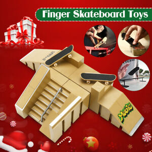 Ultimate-Skate-Park-Ramp-Parts-With-2-Fingerboard-Finger-Deck-Board-Toy