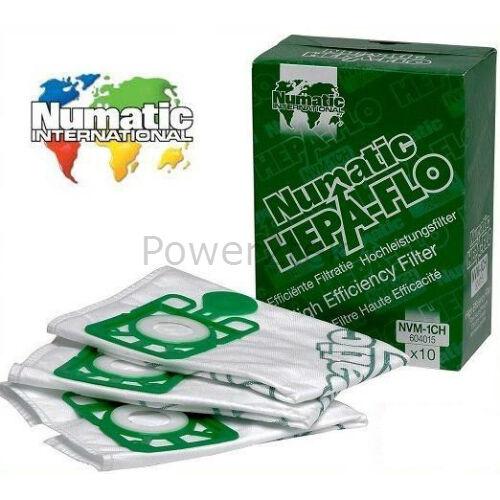 50 x véritable numatic NVM-1CH hoover poussière sacs pour henry micro HVR200M-22 henry m
