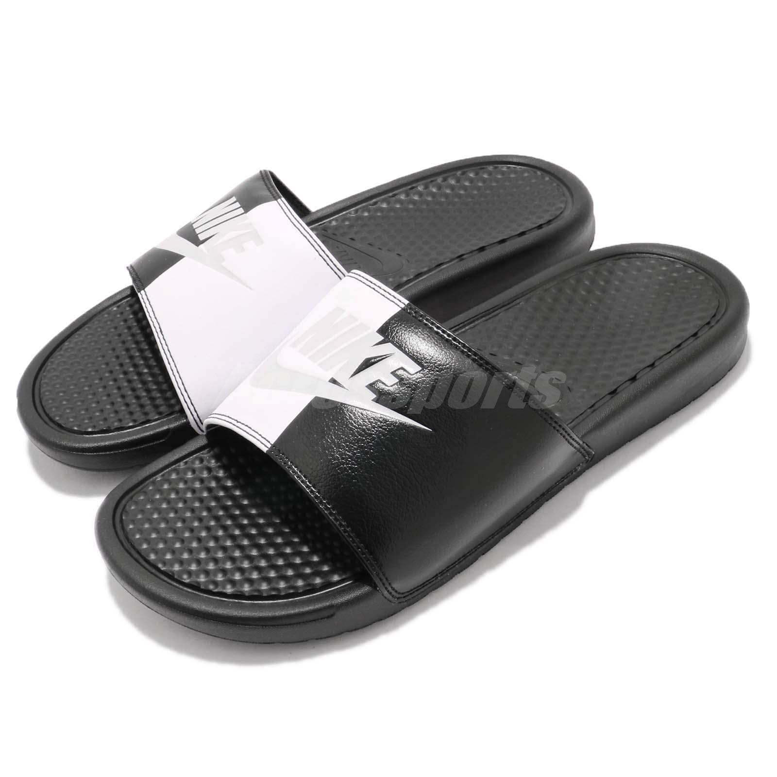 Nike Benassi JDI Black White Yin Yang Men Sports Sandal Slide Slipper 343880-015