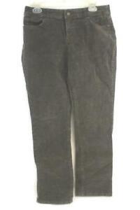 Women-039-s-St-John-039-s-Bay-Pants-Size-10-Straight-Leg-Corduroy-Brown