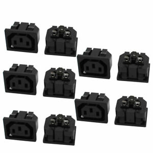 250VAC-10A-10Pcs-Universal-Female-IEC320-C13-Letter-Base-Connector-Adapter