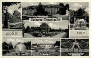 HANNOVER-1958-Herrenhausen-Mehrbild-AK-Garten-Park-diverse-Ansichten-in-s-w