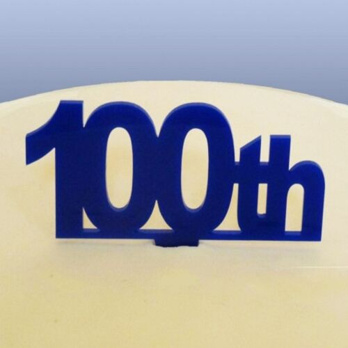 100th Birthday Cake Topper Blue