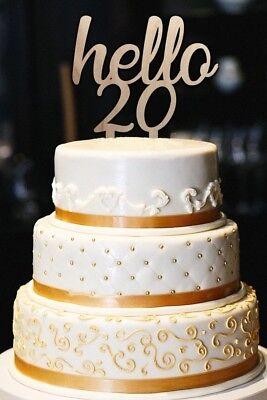 Stupendous Hola 20 Cake Topper 20Th Cumpleanos Pastel Topper Hito Pastel De Birthday Cards Printable Benkemecafe Filternl
