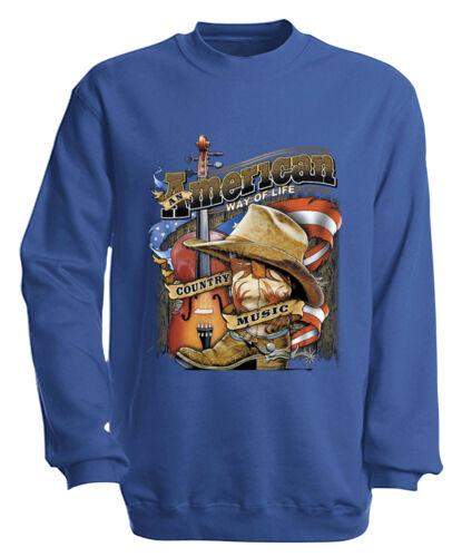 Sweatshirt Sweater S M L Xl Xxl 3Xl 4Xl American Country Music 10249-1 royal
