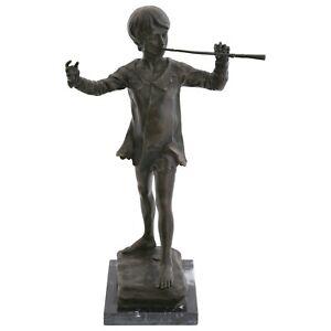 Peter Pan Bronze   signiert Sir George James englischer Bildhauer